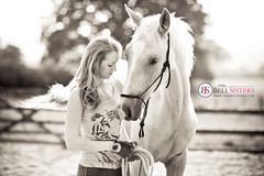 Training Ace of Hearts (Sasha L'Estrange-Bell) Tags: blackandwhite horse love oliviabell