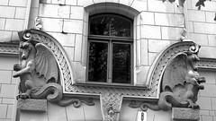 Riga, Art Nouveau (poprostuflaga) Tags: house art latvia nouveau riga tenement ryga latvija kamienica secesja otwa