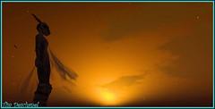 Coucher de soleil ... (Tim Deschanel) Tags: life sun landscape soleil tim falls sl second mystical paysage deschanel binemist