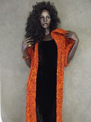 Irène wearing OOAK Handknit Coat by Uniquely Ewe (UniquelyEwe) Tags: wool women rust warm long ooak coat knit handknit yarn colored irene blend rootsteinmannequin uniquelyewe