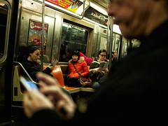 untitled - New York City (polarapfel) Tags: city newyorkcity people usa newyork america subway publictransportation candid transportation northamerica leicadgsummilux25f14