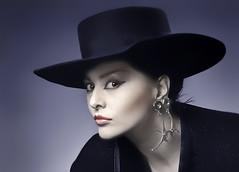 Portret van Dalbello, artieste in de tijd, dat ik veel artiesten fotografeerde tijdens de opnamen van Toppop. (ca 1989)