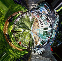 Inverted Polar Panorama in Berkeley Square (Anatoleya) Tags: panorama london canon square berkeley 360 polar inverted sq hdr photostitch 5d3 anatoleya