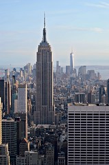 nyc (LeanneRichelle) Tags: nyc newyorkcity sky newyork skyline buildings cool nice view sweet awesome yay empirestatebuilding empirestate awe 30rock observationdeck
