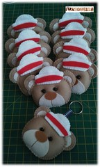 Chaveiro (mfuxiqueira) Tags: navy feltro urso nascimento chaveiro ursinho lembrancinha nutico