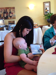 """Aunt Emily Reads Rainbow Fish to Paul • <a style=""""font-size:0.8em;"""" href=""""http://www.flickr.com/photos/109120354@N07/13992454282/"""" target=""""_blank"""">View on Flickr</a>"""