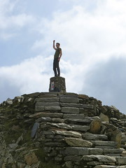 Statue at top of Mt Snowdon