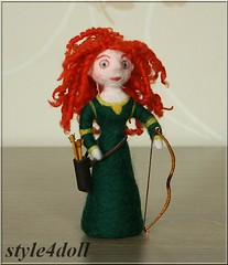 style4doll Needle Felted Art Doll inspired Disney's Brave - Merida (style4doll) Tags: art felted doll inspired needle merida brave disneys style4doll