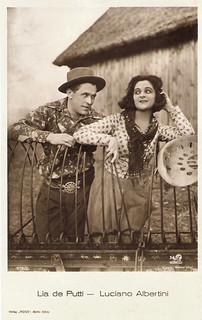 Luciano Albertini and Lya de Putti in Die Schlucht des Todes (1923)