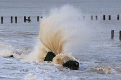 Thrown Upward (EJ Images) Tags: uk england slr beach coast suffolk nikon break nef wave spray coastal dslr eastanglia breaking breakingwave lowestoft 2015 nikonslr d90 northparade nikondslr denes suffolkcoast nikond90 suffolkcoastal 55300mmlens northlowestoft denesbeach ejimages dsc0770c