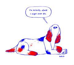 (Redlich) Tags: dog illustration fear cockerspaniel liveforever nadineredlich