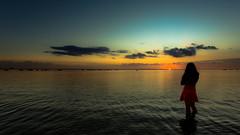 Hawaiian Sunset (shashin's photo) Tags: hawaii waikiki oahu honolulu 1740 sunet alamoana 6d