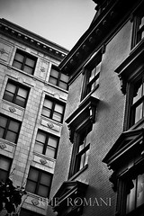 Harrisburg, PA proved to be a beautiful place. All you have to do is look up! (RueRomaniPhotography) Tags: city windows shadow sky blackandwhite building window lines architecture skyscraper canon square landscape town cityscape squares pennsylvania shapes streetphotography newengland symmetry harrisburg eastcoast travelphotography