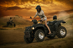 quad bike (begemot_dn) Tags: fiction mystery illustration night dark crazy twilight time space ghost dream tranquility philosophy manipulation thoughts illusion fantasy cycle inside period paranoia acceptance psychology pastime quadbike openness sleepwalking schizophrenia astrakhan