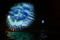 P1000918 - Ghosting (JB Fotofan) Tags: light lumix licht colorful frankfurt panasonic palmengarten bunt ghosting laserlight geisterbild projetion winterlichter fz1000