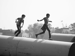 Childhood Memories, Varanasi - Uttar Pradesh (adde adesokan) Tags: street travel people india photography asia streetphotography olympus zuiko rajasthan omd em1 mft microfourthirds