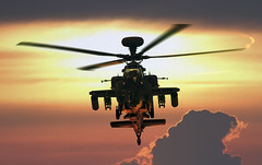 Apache Sunset (Mark Rourke) Tags: sunset suffolk apache action aircraft aviation helicopter boeing combat westland mcdonnelldouglas longbow ah64 wah64d ah64d agustawestland combathelicopter apacheah1