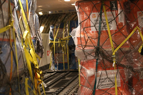Ebola Facility Modules, Direct Relief, Airlift, LAX 092