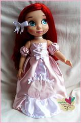 Pink Princess Dress (Martysakuracat) Tags: pink blue cute film ariel store shoes doll hand dress purple princess little ooak cartoon disney queen made belle mermaid custom gala martina animator animators sakuracat martysakuracat