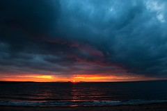 stormy sunset, Longniddry (tattie62) Tags: sunset clouds landscape scotland places firthofforth eastlothian