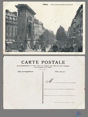 PARIS - Boulevard Bonne-Nouvelle (bDom) Tags: paris 1900 oldpostcard cartepostale bdom