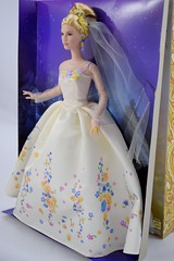 Wedding Day Cinderella Doll by Mattel - Disney Cinderella Live Action Film - Deboxing - Attached to Backing - Full Right Front View (drj1828) Tags: wedding bride us amazon doll princess disney cinderella weddingday purchase mattel 2015 deboxing 11inch productinformation liveactionfilm