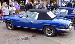 Triumph Stag, Stratford-upon-Avon Festival of Motoring 2016. (Roly-sisaphus) Tags: uk greatbritain england cars unitedkingdom gb warwickshire automobiles stratforduponavon midlands festivalofmotoring nikond802016dsc0574