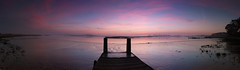 Jetty (SimonTHGolfer) Tags: uk pink sunset england panorama nature water colors sunrise landscape dawn pier suffolk nikon colours purple pano jetty massive d750 stitched landscapephotography 100megapixels 100mp simontalbothurnphotography