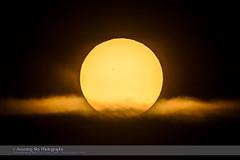 Transit of Mercury near Sunrise (Amazing Sky Photography) Tags: sun sunrise mercury britishcolumbia transit kamloops sunspot lowsun 2016 may9 dispersion