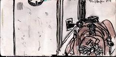 es gab Steckdosen und so hatte die Versptung wenigsten eine gute Seite (raumoberbayern) Tags: city winter bus fall pencil paper munich mnchen landscape herbst tram sketchbook stadt papier landschaft bleistift robbbilder skizzenbuch strasenbahn