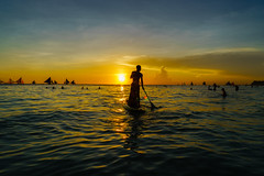 Sunset of Boracay in station 1 (Andy-Hsieh) Tags: travel sunset sea orange green yellow zeiss landscape island 50mm sketch sony philippines carl  f2 24mm boracay za  a7 magichour ssm  planar distagon  oceam a7ii   a72 goldhour a7m2 ilce7m2