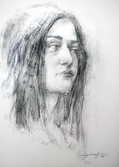 P1015005 (Gasheh) Tags: portrait art girl pencil painting sketch drawing pastel 2016 gasheh