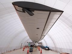 Solar Impulse wingspan, same as a 747 (jurvetson) Tags: 2 solar hangar nasa ames andr pilot prep impulse borschberg