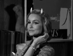 "Julie Newmar, ""Of Late I Think of Cliffordville"" 27 (Tom Simpson) Tags: woman sexy television vintage devil 1960s pinup devlin julienewmar succubus thetwilightzone vintagetelevision"