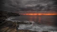 And the world goes hot (mark silva) Tags: ocean cloud clouds sunrise sydney australia nsw cronulla kurnell kamaybotanybaynationalpark sonya7rii