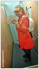 Off to meeting (magdalena_m) Tags: woman stockings glasses feminine makeup skirt swedish blouse transgender nails tranny blonde transvestite trans mtf balletshoes maletofemale transgirl