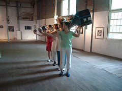 indoor quartet (RETTOCAMME) Tags: ny art design dance performance installation choreography sitespecific artfestival rettocamme emmacotter docklandcounty garnerartscenter