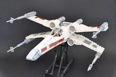 T-65 X Wing (Inthert) Tags: star starwars fighter ship lego luke r2d2 xwing wars skywalker moc t65 sfoils