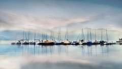 calmness... (Weirena) Tags: inspiration nature reflections boats landscapes flickr sailing fineart lakes wallart quotes scenes textured weirena ireneweisz