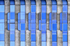 Blue Bayou (Isabelle Gallay) Tags: city blue windows urban color building wall architecture fuji bordeaux bleu fujifilm mur couleur ville immeuble urbain fentres aquitaine gironde fujix30