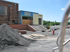 THE KATE WALTON FIELD HOUSE ADDITION SO FAR (richie 59) Tags: city school trees urban usa ny newyork stairs america fence buildings constructionarea outside us spring construction unitedstates weekend sunday stairway highschool midtown kingston newyorkstate chainlinkfence constructionsite nys nystate hudsonvalley kingstonny newbuildings 2016 ulstercounty redbrickbuilding schoolbuildings smallcity schoolcampus midhudsonvalley americancity midhudson ulstercountyny uscity 2010s oldschoolbuildings kingstonhighschool richie59 midtownkingstonny midtownkingston june2016 june122016 newschoolbuildings