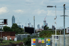 London Skyline from Clapham Junction (James D Evans - Architectural Photographer) Tags: london skyline architecture skyscrapers towers claphamjunction londonskyline