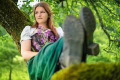 Treekeeper (Nic Pigsa) Tags: red portrait nature fairytale outdoor elf fairy fantasy larp fee elb cospaly