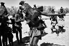 Himba Dances 4 (alisdair jones) Tags: africa men dance women dancing tribe namibia himba ef35mmf14lusm
