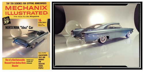 Faux Magazine and Studio Photo of  the 1956 Norseman Concept Car