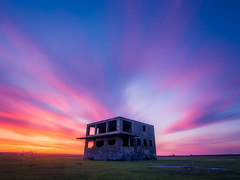 In The Pink v2 (Timothy Gilbert) Tags: pink sunset abandoned cornwall colours panasonic ultrawide hdr controltower airfield davidstow inthepink ortoneffect gx7 olympus918mmf4056