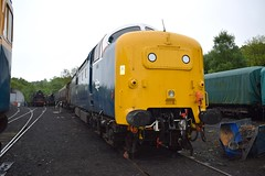 55022 at Grosmont (colin9007) Tags: english electric grey yorkshire royal class coco 55 napier scots grosmont nymr deltic d9000 55022