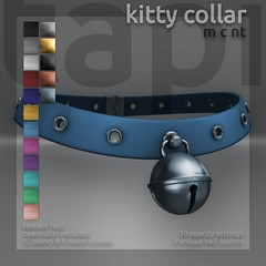 tapi :: kitty collar (tapi :: original mesh) Tags: life bell kitty bdsm second neko collar choker mew opencollar rlv roulett3