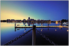 (CanMan90) Tags: ocean longexposure blue canon fence buildings reflections outdoors cityscape nightshot post britishcolumbia victoria chain hour wharf friday cans2s rebelt3i efs1018mmf4556isstm