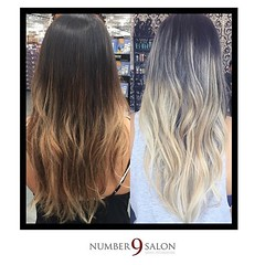 "Loving this before and after of a fantastic foilayage by Number 9 Salon stylist, MJ! #dtsp #hair #foilayage #tampabay • <a style=""font-size:0.8em;"" href=""http://www.flickr.com/photos/41394475@N04/27544820293/"" target=""_blank"">View on Flickr</a>"